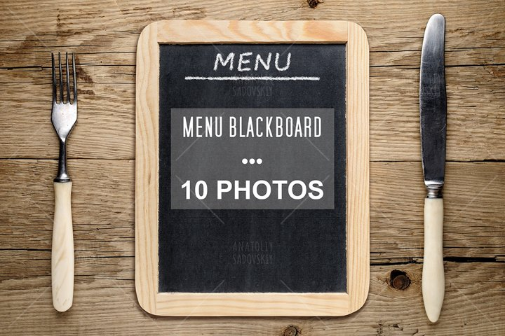 Bundle of 10 photos - menu blackboard