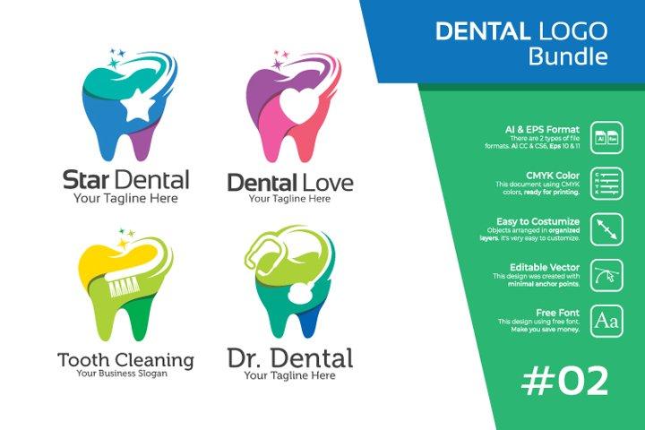 Set bundle logo - Dental and dentist bundle logo #2