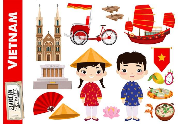 Vietnam clipart Vietnam graphics Asian clip art Vietnamese