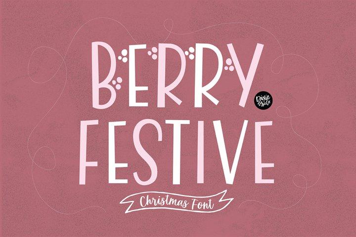 BERRY FESTIVE Farmhouse Christmas Font