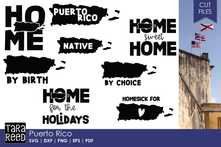 Puerto Rico SVG and Cut Files for Crafters