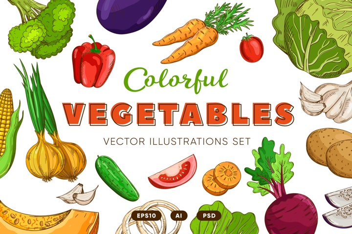 Cartoon Vegetables collection