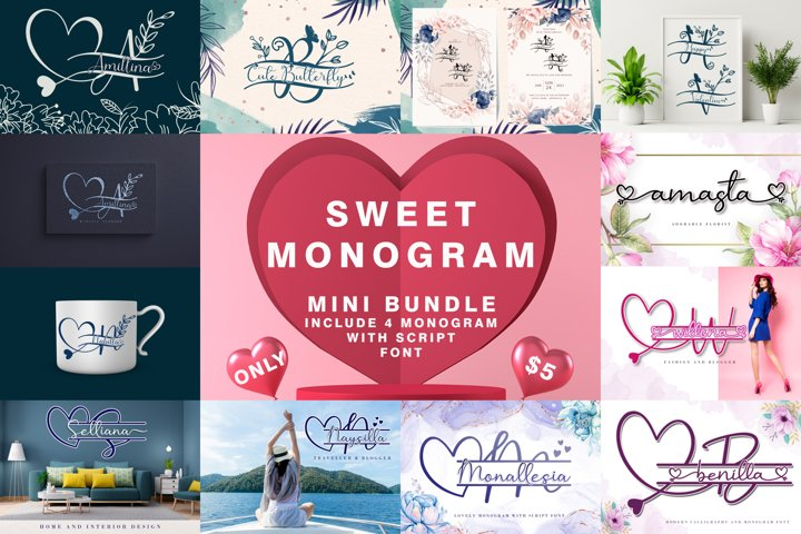 Sweet Monogram Bundle
