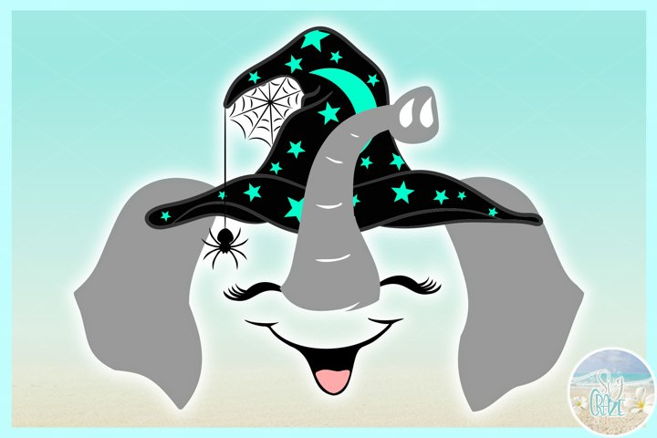 Elephant Face With Witch Hat SVG Dxf Eps Png PDF