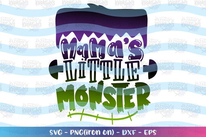 Halloween svg Mamas little monster
