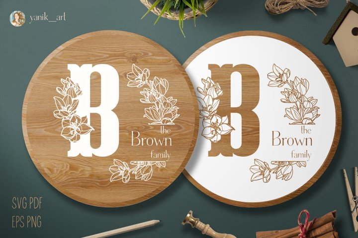 Monogram B design for Farmhouse SVG EPS PNG