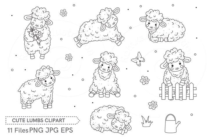Clip art Cute Sheeps