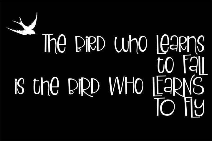 ZP Blackbird Pie - Free Font of The Week Design2