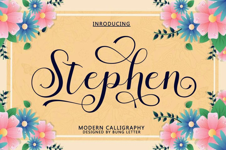 Stephen - Modern Calligraphy