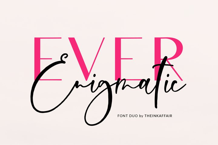 Ever Enigmatic Font Duo