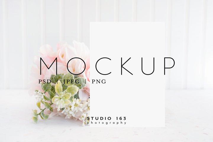 5x7 Card Mockup, Wedding Invitation Mockup, PSD JPG
