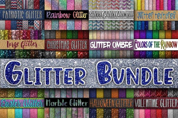 Glitter Bundle - Over 200 Digital Papers - Glitter Textures