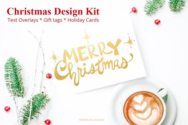 Hand Lettered Christmas Design Kit