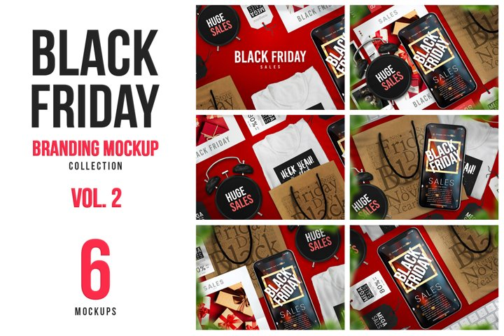 6 High-Quality Black Friday Branding Mockups Vol. 2