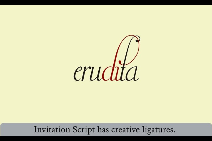 Invitation Script - Free Font of The Week Design1