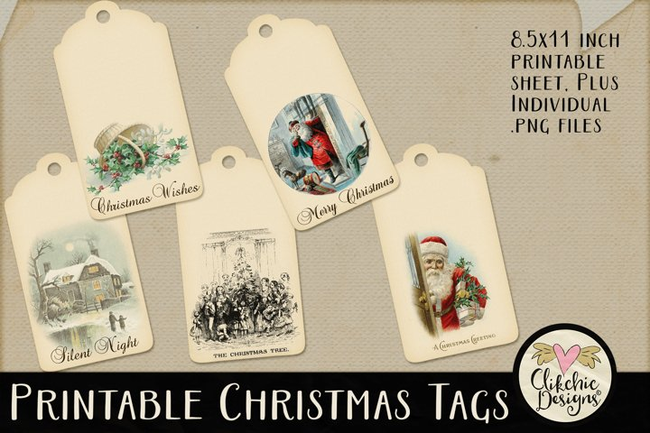 Christmas Tags - Printable Vintage Christmas Tags