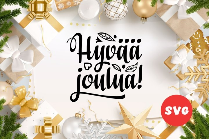 Finnish Christmas in different languages Hyvaa joulua svg