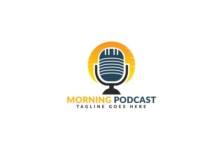 Morning Podcast Logo Design.