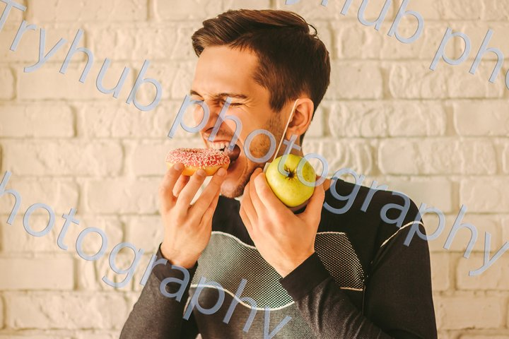Healthy sports food for fitness man