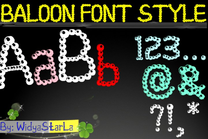 baloon font style
