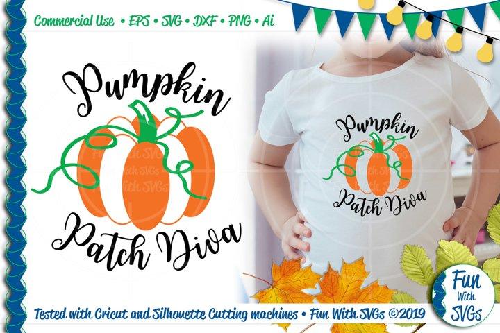 Pumpkin Patch Diva SVG Cut File