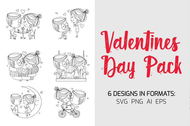 Valentines Day Pack - 6 Designs