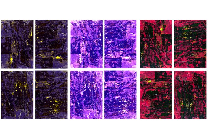 Set of 12images. Abstract art background. Acrylic painting
