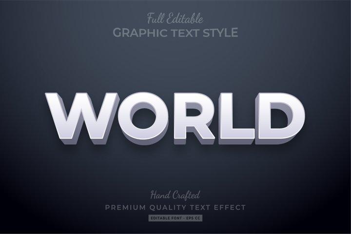 World elegant Editable 3D Text Style Effect Premium