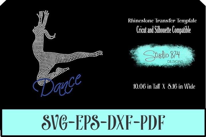 Dance - Dancer Rhinestone Template Digital Download R1