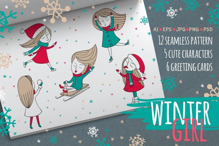 Character winter girl