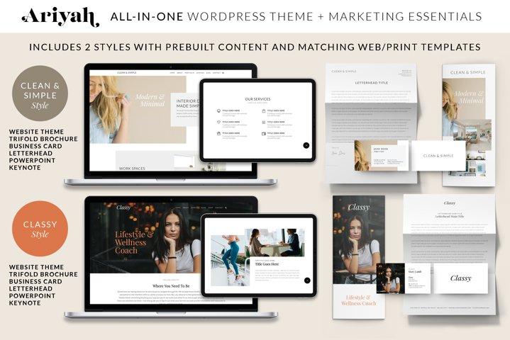 ARIYAH WordPress Website and Marketing Complete Bundle