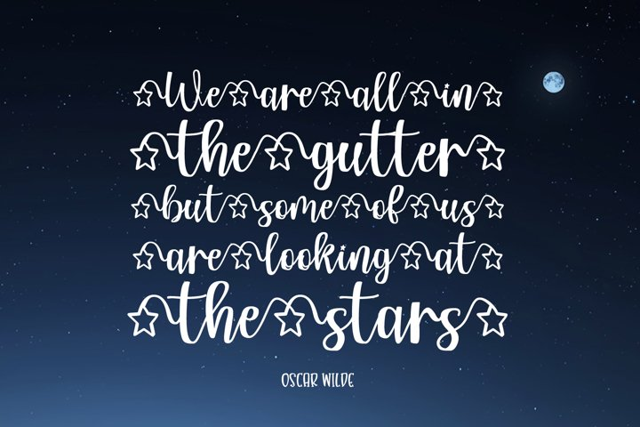 My Star - a font written in the stars - Free Font Of The Week Design5