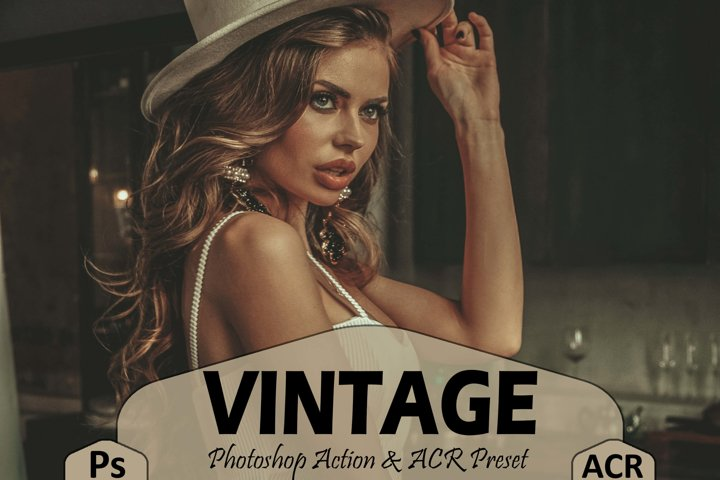 18 Vintage Photoshop Actions And ACR Presets, Retro Ps