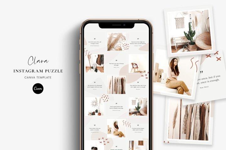 Clara - Instagram puzzle Canva template