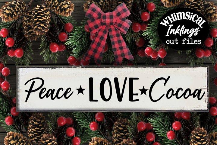 Peace Love Cocoa SVG
