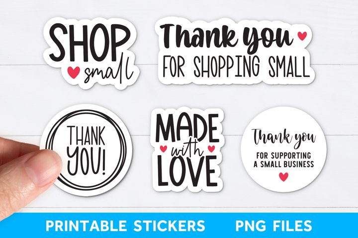 Printable Packaging Stickers Bundle, Business Sticker Bundle