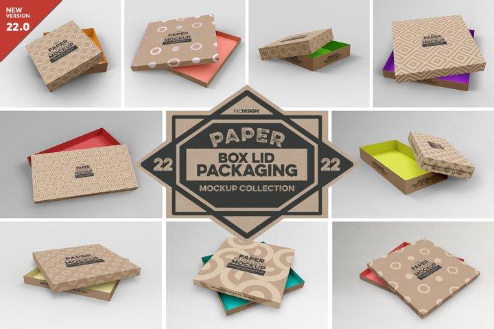 VOL. 22 Paper Box & Lid Packaging Mockups