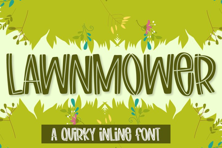Lawnmower - A quirky inline font