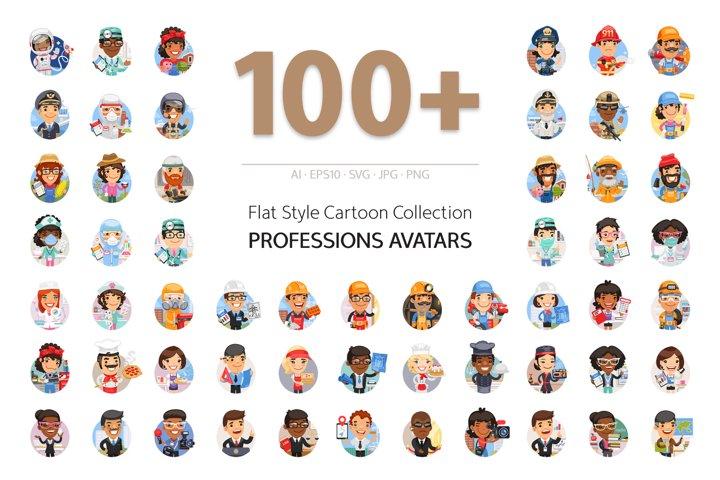 100 Professions Avatars