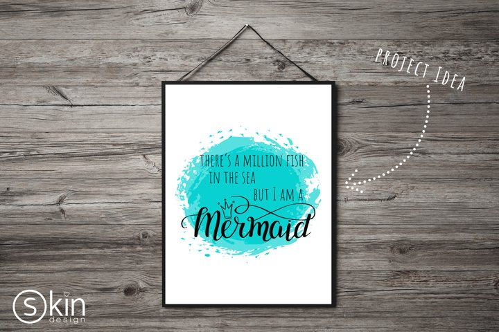 I am a Mermaid in vector format, svg, concept