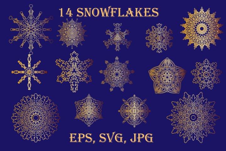 White snowflakes SVG. Christmas snowflakes SVG.