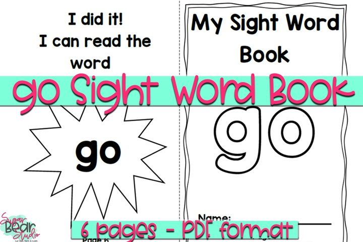 Go Sight Word Book - Educational Resource