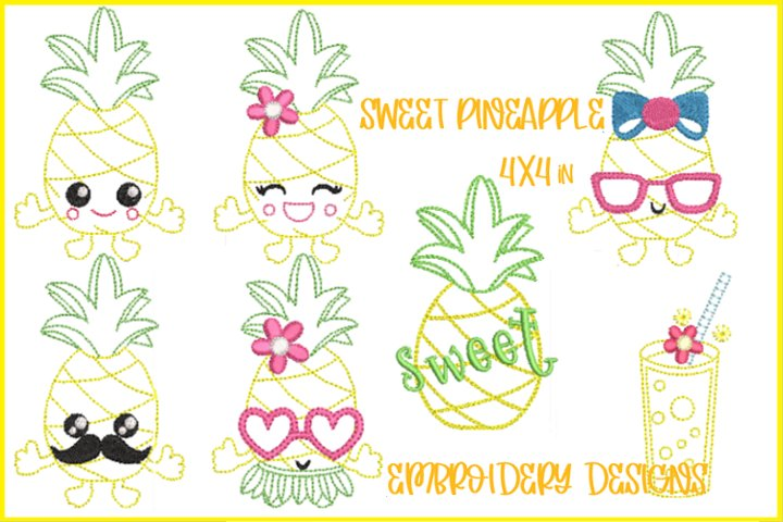 SWEET PINEAPPLE EMBROIDERY SET