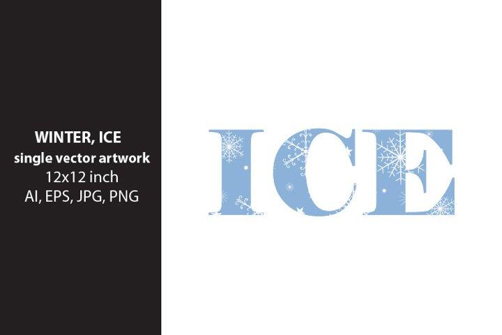 winter, ice - VECTOR ARTWORK