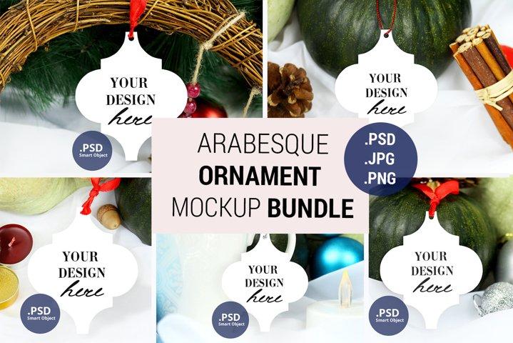 Arabesque Tile Ornament mockup Bundle, PSD JPG mockup bundle