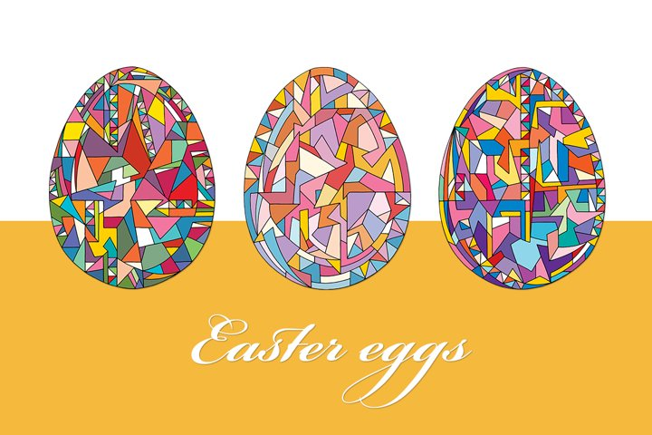 Easter eggs vector collection