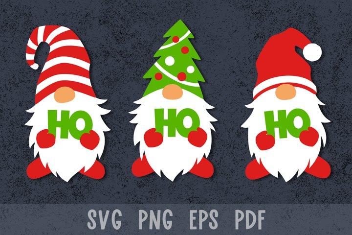 Christmas gnomes svg Christmas paper cut Christmas papercut