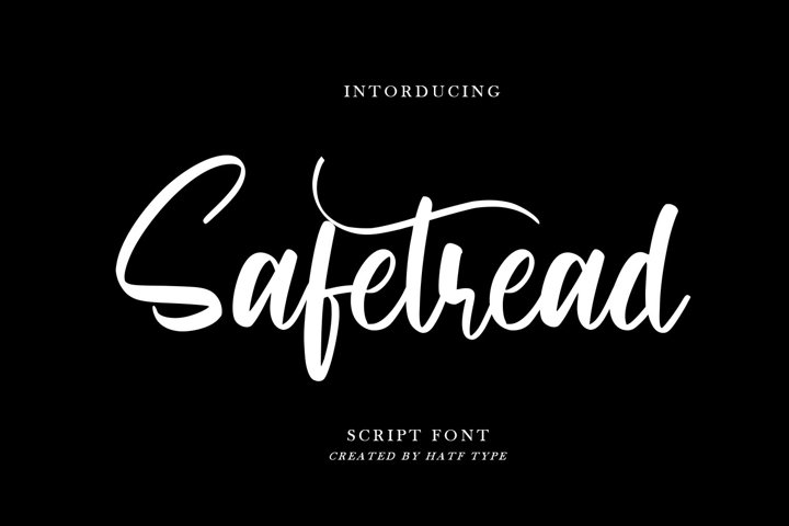 Safetread - Script Font