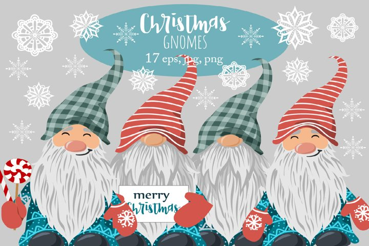 Christmas gnomes clipart, sublimation png