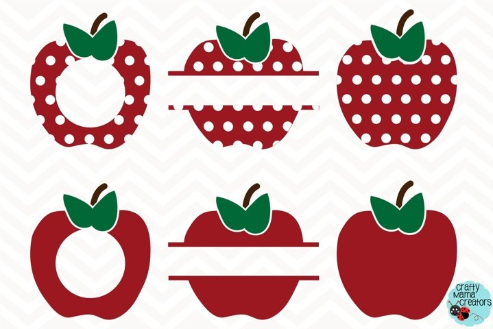 Apple Svg, Teacher Svg, Teacher Monogram, School Cut File